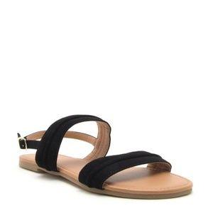 Shoes - Black Nubuck Sandal
